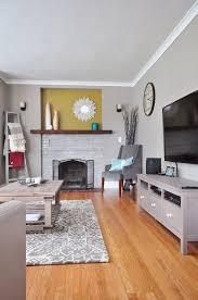 gray paint living room. (image credit: katie gard) gray paint living room i