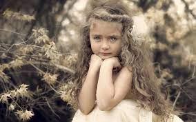 Beautiful cute girl, portrait, curls ...