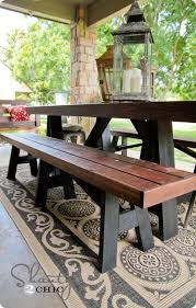 garden dining table with benches. awesome outdoor bench table set pb knock off twenty buck sawhorse house garden dining with benches ,