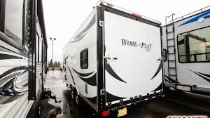 2018 forest river work and play 21 se toy hauler travel trailer video tour guaranty
