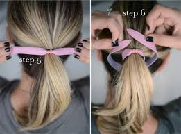 step 5 put your hair up in a ponytail make sure the twist tie you secured is at the top since it will eventually be covered up by the knot