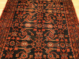 persian handmade wool mahal bidjar herati navy red