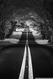road landscape aesthetic black and