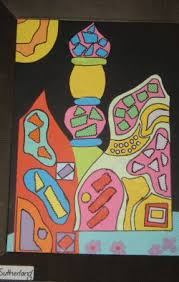 example of collage examples of collage friedrich hundertwasser dye and colourflow