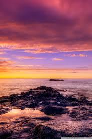 ocean sunset wallpapers. Interesting Sunset Mobile HVGA 32 With Ocean Sunset Wallpapers
