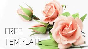 Paper Flower Template Free Free Template How To Make Paper Rose Youtube