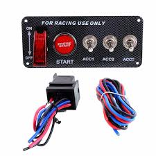 popular racing ignition switch panel buy cheap racing ignition 12v car styling accessory hot racing car ignition switch panel engine start red push button toggle