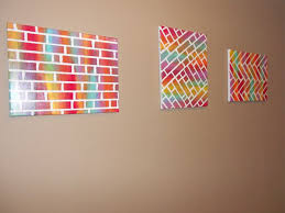 Easy Diy Painted Bricks Canvas Art