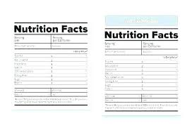 Nutrition Labels Template Food Label Template Word Nutrition Facts Vector Templates