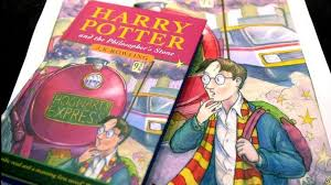 harry potter book and artwork
