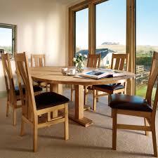 Impress Quercus Oak Round Extending Pedestal Dining Table Come