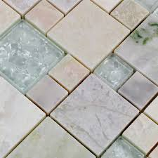 natural stone with green crystal mosaic tile sheet marble backsplash wall stickers bedroom kitchen