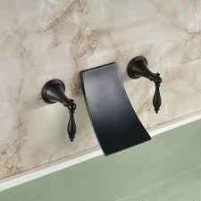 wall mount oil rubbed bronze waterfall bathroom faucet tub mixer 2 handle
