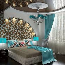 Superior I Love This Modern Elegant And Yet Funky Bedroom With White Turquoise Blue  Tan And Brown