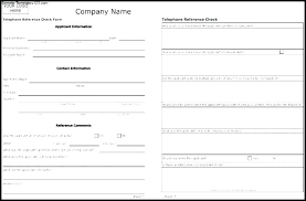 Template Server Checklist Employee Reference Check Form