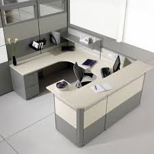 office counter desk. Smart And Exciting Office Cubicles Design Ideas : Modern Gray Cubicle Fabric With Height Counter Desk