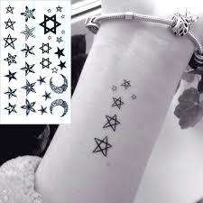 3338 руб водостойкая временная татуировка наклейка маленькая звезда луна палец