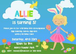 Easter Birthday Invitation Templates Free Printable