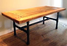 steel pipe coffee table a handmade reclaimed wood pipe leg coffee table made to order