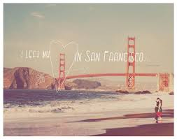 San Francisco Quotes Extraordinary Quote Love San Francisco Golden Gate Bridge Red Heart Art Print