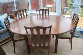 g plan extending round dining table with 5 chairs