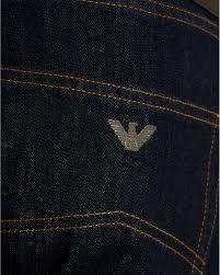 Armani Jeans Mens J45 Jean Slim Gold Stitch Dark Clean Denim