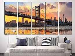 tanda large canvas print philadelphia ben franklin bridge skyline extra large skyline philadelphia wall art print on amazon extra large wall art with amazon tanda large canvas print philadelphia ben franklin