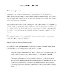 Sample Employment Contract Online Form Free Employee Employer ...