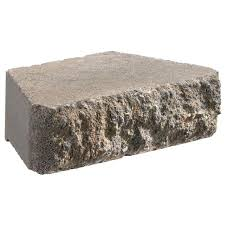 gray concrete retaining wall block