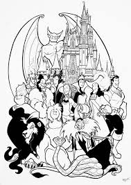 Disney Villains Coloring Pages Coloring Labs