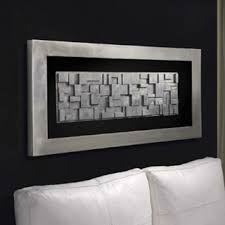 rectangle silver leafed 3d blocked framed box wall art on large framed wall art uk with square carved beaded solid medallion large framed box wall art