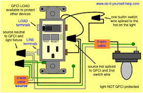 gfci switch outlet wiring diagrams do it yourself help com Light Switch with GFCI Outlet at Gfci Outlet With Switch Wiring Diagram