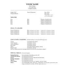 Performance Resume Template Adorable Performance Resume Template Ian Music Quickplumberus