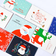 Envelope Design Handmade 8pcs Handmade Merry Christmas Paper Greeting Card With Envelope Gift Card Original Design Unique Christmas Greeting Cards2 64