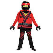 7-8 Disguise Costumes Medium Toys Division 23521K Red Disguise Kai Lego  Ninjago Movie Deluxe Costume Toys & Games Costumes