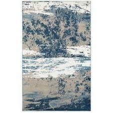 matrix light beige soft blue rectangle 7 ft