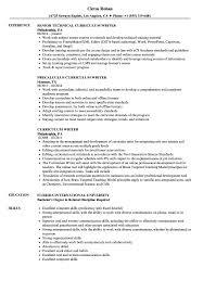 Curriculum Writer Resume Samples Velvet Jobs