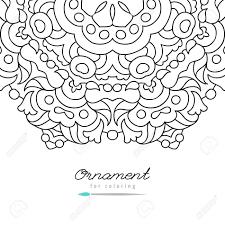 アンチ ストレス大人の塗り絵グリーティング カード テンプレートを着色するためのフレームを落書き