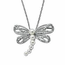 t w diamond dragonfly pendant in 10k white