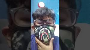 I got scammed bape mask opening YouTube