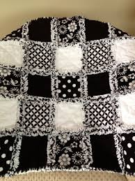 ZeedleBeez: Black and White Rag Quilts & Black and White Rag Quilts Adamdwight.com