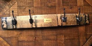 Wine Barrel Stave Coat Rack Blanton's Bourbon Barrel Stave Coat Rack 78