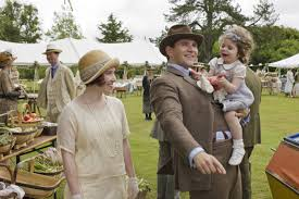 Daisy Lewis, Allen Leech & little Ava Mann between takes at the church  bazaar, Episode 4.8. | Downton abbey series, Downton abbey, Downton