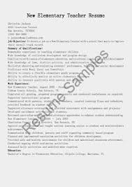 Elementary Teacher Resume Sample Elementary Teacher Resume Examples Resume and Cover Letter 54