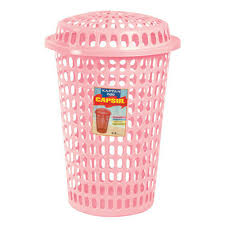 Pink Plastic Laundry Basket Fascinating Capsule Laundry Basket At Rs 60 Piece Plastic Laundry Basket