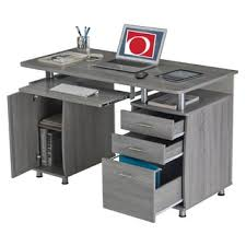 office dest. Modern Designs Grey MDF Multifunctional Office Desk With File Cabinet - Free Shipping Today Overstock.com 19356921 Dest