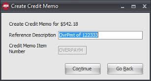 Create Credit Memo