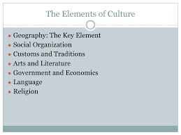 7 Elements Of Culture 7 Elements Of Culture Ppt Download