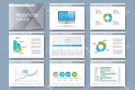 Set Of Vector Templates For Presentation Slides Modern Business