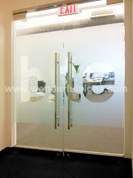 frosted graphics for entrance door